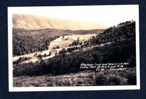 WV Alleghany NEW CREEK MTS WEST VIRGINIA Real Photo PC