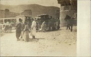 Egypt Natives Street Scene c1910 Real Photo Postcard