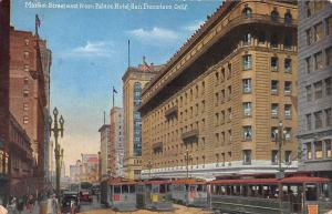 Market St. East from Palace Hotel, San Francisco, CA, Early Postcard, Unused