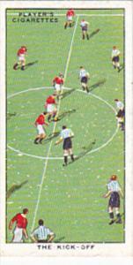 Cigarette Card Player Association Football Hints 1934 No 10 The Kick Off