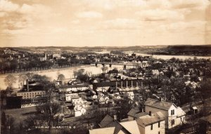 Real Photo Postcard Overview of Marietta, Ohio~111513