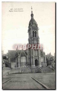 Old Postcard Le Mans Church of Saint Benoist