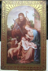 Postcard Religious Holy Family - unposted