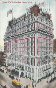 Hotel Knickerbocker, Manhattan, New York City, Early Postcard, Used in 1915
