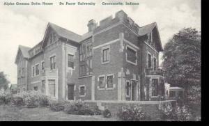 Indiana Greencastle Alpha Gamma Delta House De Pauw University Albertype