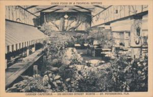 Interior View Garden Cafeteria St Petersburg Florida Curteich