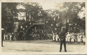 mauritius, PORT LOUIS, Welcome to Duke & Duchess of York (1927) RPPC Royal Tour