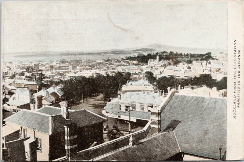 Auckland NZ from Fire Station Rangitoto New Zealand Postcard E69