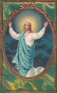 EASTER, PU-1913; Jesus Christ with Arms wide open to the sky