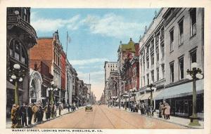 Wheeling West Virginia 1920s Postcard Market Street Looking North