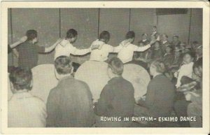 Native American History Rowing In Rhythm - Eskimo Dance Black & White Photograph