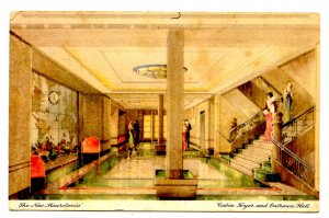 Cunard Line - RMS Mauretania, Cabin Foyer, Entrance Hall
