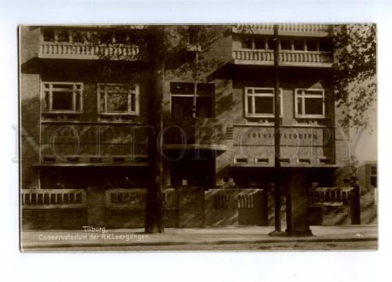 173409 HOLLAND Tilburg Conservatorium Vintage photo postcard