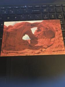 Vintage Postcard; double Arch, Arches National Monument Utah