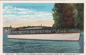 New York Alexandria Bay Uncle Sam Compliments Of Combined Thousand Island Boa...