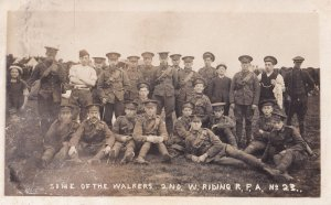 West Riding 1911 Military Regiment Yorkshire Army Photo & Message Postcard