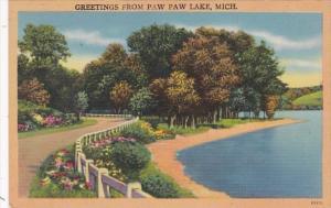 Michigan Greetings From Paw Paw Lake