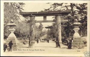 japan, NARA, Torii At Kasuga Shinto Shrine (1930s) RPPC