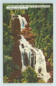 Whitewater Falls Highlands River Water Western North Carolina NC Postcard