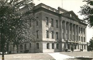 Jefferson Iowa~Greene County Courthouse~1942 Real Photo Postcard~RPPC