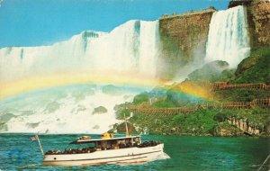 Postcard American Falls with Maid of the Mist Niagara Falls Canada