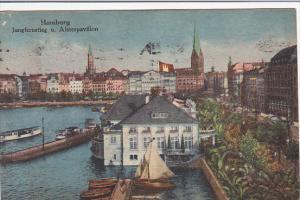 Germany Hamburg Jungfernstieg und Alsterpavillon 1918