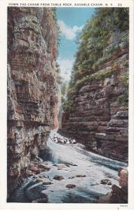 Boat Down Ausable Chasm from Table Rock - Adirondacks, New York - WB