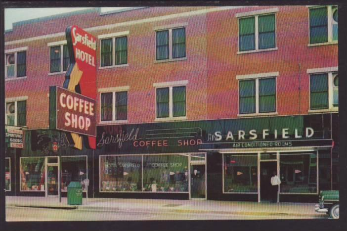 Hotel Sarsfield And Coffee Camden Sc Postcard