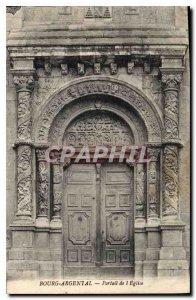 Old Postcard Bourg Argental Church Portal