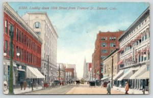 Denver Colorado~16th Street @ Tremont Street~Tremont Hotel~Downtown~1915
