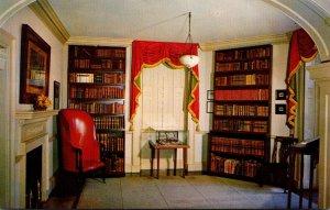 Virginia Charlottesville Monticello Home Of Thomas Jefferson The Library