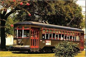 Street Car New Orleans Louisiana Postcard Continental View Card