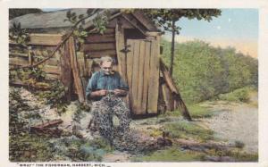 Wray the Fisherman - Mending his nets - Harbert Berrien County MI, Michigan - WB