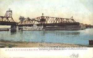 AT and SFRR Bridge, Ft. Madison, Iowa, USA Steamer, Steam Boat, Steamboat, Sh...