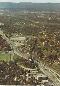 Aerial View, Highway-Expressway, Hovik, Norway, 50-70's