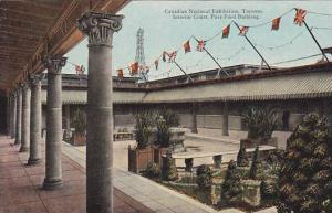 Canadian National Exhibit, Interior Court, Pure Food Building, Toronto, Ontar...