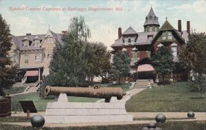 HAGERSTOWN, Maryland, 1900-1910´s; Spanish Cannon Captured At Santiago