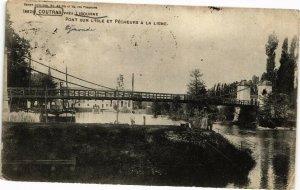 CPA COUTRAS pres LIBOURNE-Pont sur L'Isle et Pécheurs a la Ligne (176782)