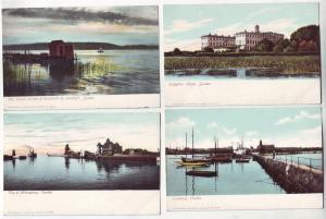 P378 JL postcard 4 old sweden trelleborg, tullgarns, helsingborg, stockholm