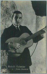 95672 - VINTAGE POSTCARD - CINEMA, Actors: R VALENTINO La notte Nuziale, Guitars