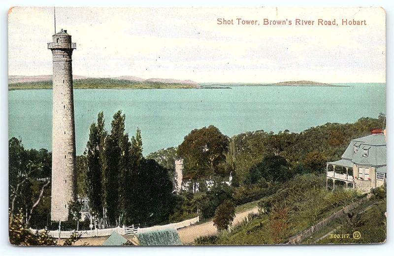 Postcard Tasmania Australia Hobart Shot Tower Brown's River Road C4