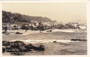 California Carmel By The Sea Coastline Scene Real Photo