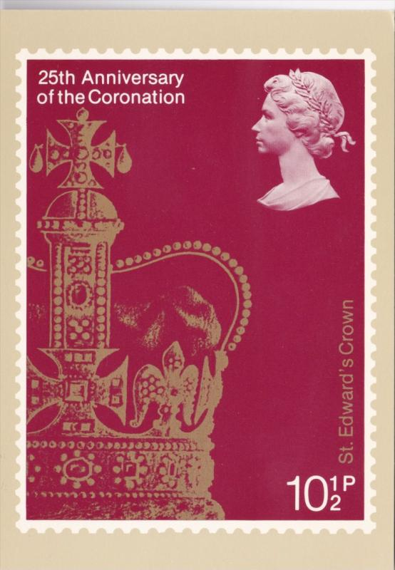 Stamps Of Great Britain 25th Anniversary Of The Coronation St Edward's Crown ...