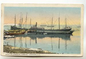 Tall Ships, Snow, Lunenburg Harbour, Nova Scotia, Martin's Point NS Split Rin...