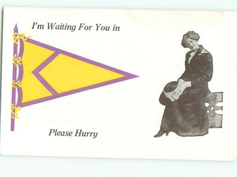 Divided-Back PRETTY WOMAN Risque Interest Postcard AA7777
