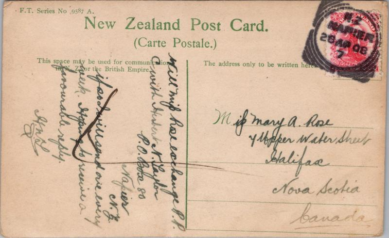 Hunting The Moa NZ New Zealand FT Series 9587A Real Photo Postcard E33 *As Is