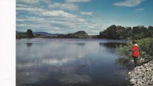 Fishing The Stellako River,  Hwy 16,  Vancouver,  B.C.,  Canada,  40-60s