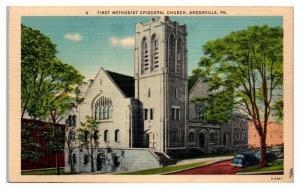 First Methodist Episcopal Church, Brookville, PA Postcard