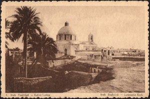 Iraq old Post card - Bagdad Eglise Latine