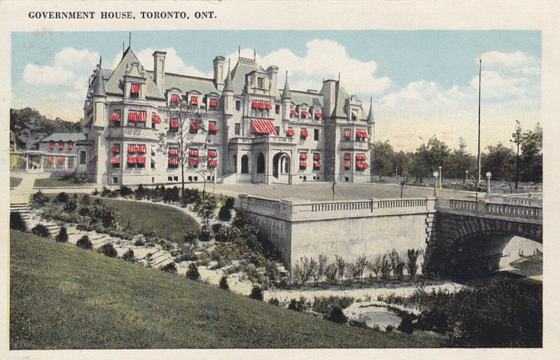 TORONTO, Ontario, Canada, 1900-1910's; Government House